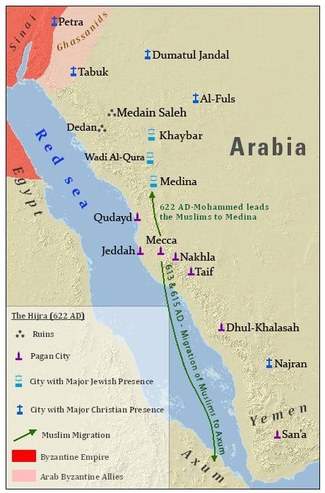 הגירתו של מוחמד ובני לווייתו
