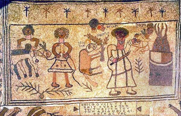 פסיפס עקידת יצחק בית אלפא