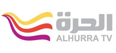 לוגו רשת אלחורה האמריקאית בשפה הערבית