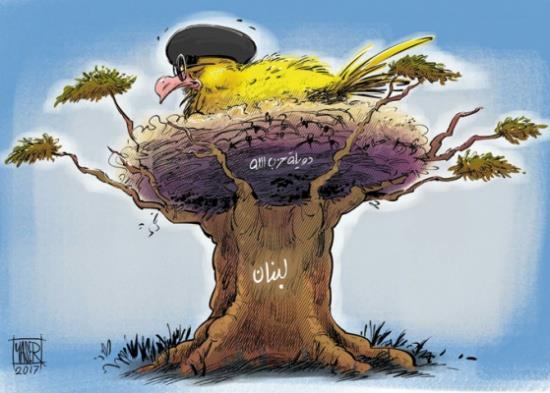לבנון וחיזבאללה קריקטורה