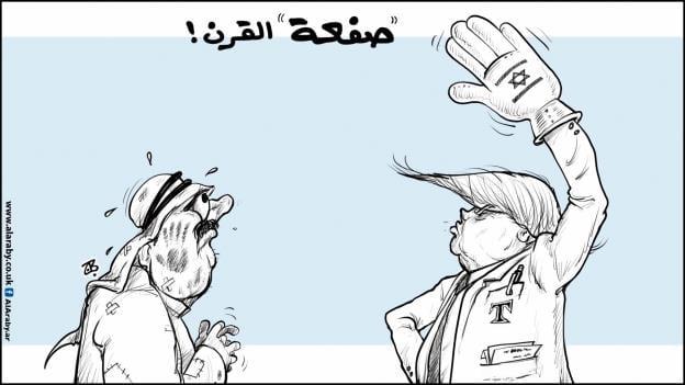 קריקטורה טראמפ עימאד חג'אג'