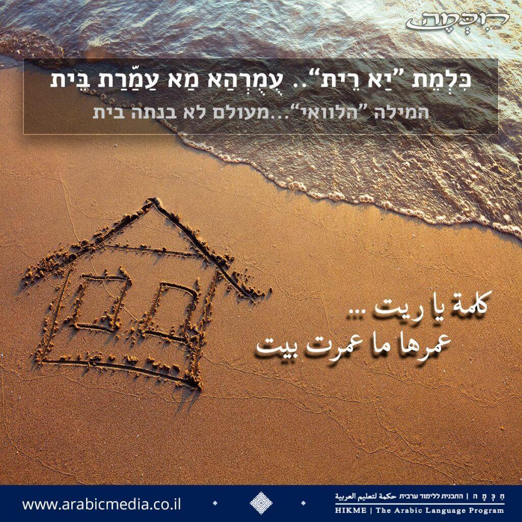 משלים, פתגמים ומטבעות לשון בערבית מדוברת וספרותית